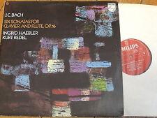 6500 121 J.C. Bach Six Sonatas for Clavier & Flute Op. 16 / Haebler / Redel
