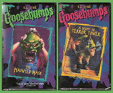 VHS movie pair: R.L. Stine's Goosebumps -- Haunted Mask + Night in Terror Tower