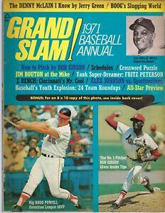 1971 Grand Slam Baseball magazine Boog Powell, Baltimore Bob Gibson Cardinals Gd