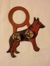 Handmade Decorative Animal Leather Door Hanger W/2 Bells