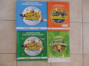 WOOLWORTHS SUPER, ANCIENT ANIMALS, EXPLORERS COLLECTOR'S ALBUM CARDS EDUCATIONAL