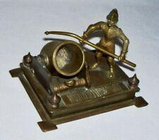 Antique Bronze/Brass CANON & FRENCH SOLDIER Match Striker & Holder