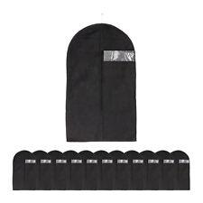 12 x Kleidersack Anzug Schutzhülle Kleideraufbewahrung Anzugsack schwarz Vlies