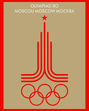 "1980 Moscow Summer Olympics Ad Poster - 8""x10"" Photo"