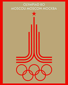 """1980 Moscow Summer Olympics Ad Poster - 8""""x10"""" Photo"""