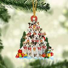 Parson Russell Terrier-Dog Christmas Tree Ornament