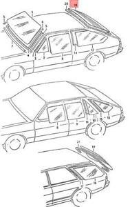 Genuine Volkswagen Heated Rear Window NOS Dasher 32 33 321845501A