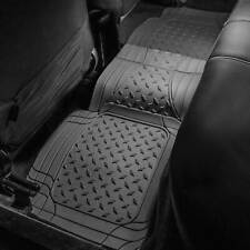 Rear Floor Mat for Auto Car Van SUV Gray Trim to Fit Heavy Duty