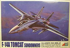 MICRO ACE US NAVY F-14A TOMCAT SUNDOWNERS 1:144 SCALE PLASTIC MODEL AIRPLANE KIT