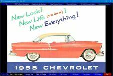 Tri-Chevy Sales Brochures 1955 - 1956 - 1957 CD-ROM