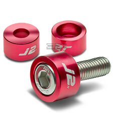J2 JDM EXHAUST HEADER MANIFOLD METRIC CUP WASHER+BOLT/NUT KIT CD/CG/CS/BB RED
