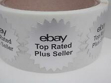 """ebay Top Rated Plus Seller matte silver foil 1.5"""" starburst label sticker 250/rl"""