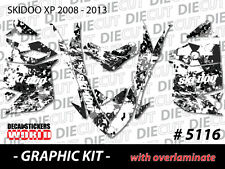 SKI-DOO XP MXZ SNOWMOBILE SLED WRAP GRAPHICS STICKER DECAL KIT 2008-2013 5116