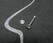 NEU 925 Silber NASENSTECKER 3mm SWAROVSKI STEIN klar/kristallklar PIERCING