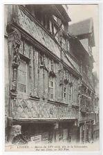 Maison du XVI siecle Salamandre Rue aux Feves Lisieux France postcard