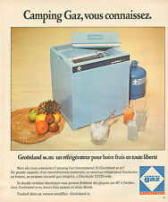 Publicité Advertising 1976  Camping Gaz Groenland se.m réfrigérateur