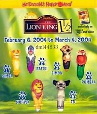 2004 McDonalds Lion King 1 1/2 MIP Complete Set of 6, Boys & Girls, 3+