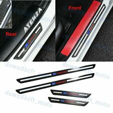 For Ford Carbon Fiber Car Door Welcome Plate Sill Scuff Cover Panel Sticker 4PCS