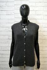MARELLA Maglione Gilet Donna Taglia 2XL Cardigan Grigio Maglia Pullover Sweater