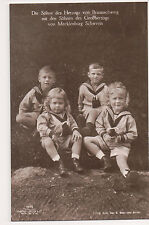 Vintage Postcard Sons of The Dukes of Mecklenburg Schwerin & Brunswick