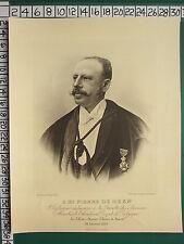 1899 DATED VICTORIAN PRINT ~ MR PIERRE DE HEEN