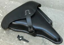 WWII GERMAN LUGER P08 Hardshell BLACK LEATHER HOLSTER with Takedown Tool