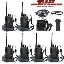 6× Baofeng UHF BF-888S + Headset USB PROGRAMACION UHF 400-470Mhz EMISORA Radio