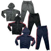 Boys Girls Kids Plain Tracksuit PE School Jacket Joggers Fleece Jogging Bottoms