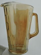 JEANNETTE GOLD MARIGOLD CARNIVAL GLASS HONEYCOMB ICE LIP PITCHER VINTAGE # 2