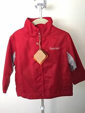 NWT! Timberland NYLON Jacket Toddler 3T RED EUC SOFT LINING