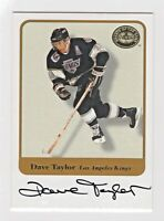 2001 Greats of the Game Authentic Original Autograph Dave Taylor LA Kings