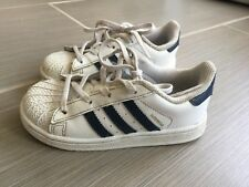 Designer Adidas Boys Sneakers White & Navy Everyday Size 10