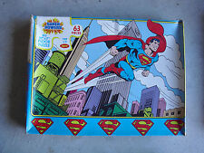 Vintage 1987 Jaymar Justice League Superman Puzzle in Box 22x17