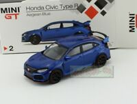 1:64 TSM MINI GT Honda CIVIC TYPE R FK8 Blue RHD MGT00002-R Diecast