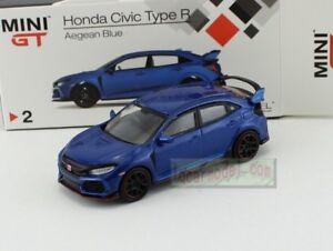 1:64 TSM MINI GT Honda CIVIC TYPE R FK8 Blue RHD MGT00002-R Diecast