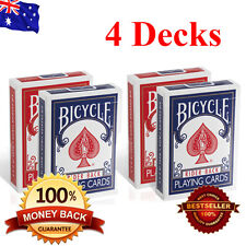 4 Decks Of Bicycle Cards New - US Standard Bicycle Playing Cards - 2 Red 2 Blue