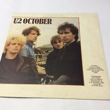 "U2 'October' VG/G+ Classic Bono Edge LP Vinyl 12"""