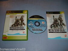 METAL GEAR SOLID 2 SUBSTANCE XBOX COMPLET (envoi suivi)