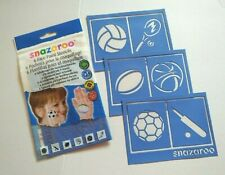 Snazaroo 6 Face Paint Stencils: Sports: NEW & SEALED!