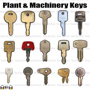 Plant Keys Thwaites, JCB, Bomag, Hitachi, Takeuchi, Diggers, Dumpers, Excavators