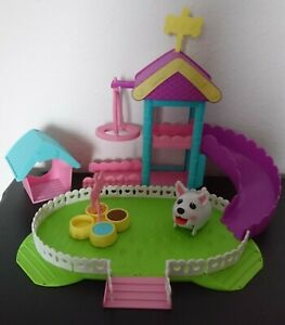 SPIN MASTER Chubby Puppies Ultimate Dog Park Playset COMPLETE W/ Waddling Puppy