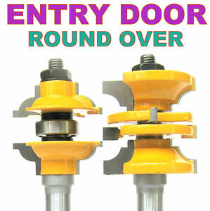"""2 pc 1/2"""" SH Entry & Interior Door Round Over Matched R&S Router Bit Set S"""