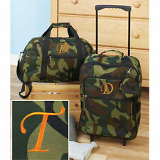 Luggage for Kids Boys Sets Small Rolling Suitcase Duffel Bag Camo Letter T 3 PC