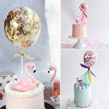 1PC Confetti Balloon Party Birthday Cake Insert Latex Topper Colorful Decoration