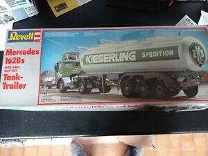 1:25 REVELL MERCEDES 1628s TRUCK WITH TANK TRAILER
