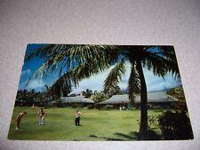 1960s PITCH n PUTT GOLF COURSE at HOTEL HANA-MAUI HAWAII VTG POSTCARD