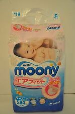Japanese  Moony Diapers  S (Small ) size 84 pieces 4-8 kg.