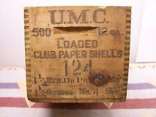 Umc Loaded Club Paper Shells Union Metallic Wood Shipping Shotgun Shot Shell Box