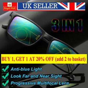 Anti-blue Light Reading Glasses Progressive Multifocal Lens Presbyopia Eyeglass