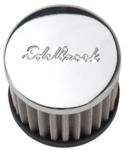 Edelbrock 4420 Chrome Circle Track Style Push-In Valve Cover Open Breather